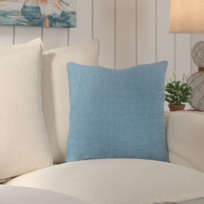Palmetto Solid Indoor/Outdoor Pillow Size: 22 H x 22 H x 4 D, Color: Ocean Blue