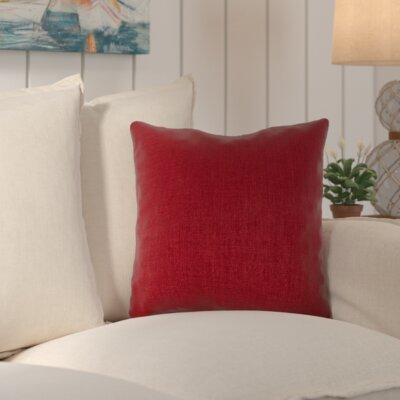 Palmetto Outdoor Pillow Size: 22 H x 22 H x 4 D, Color: Redwood