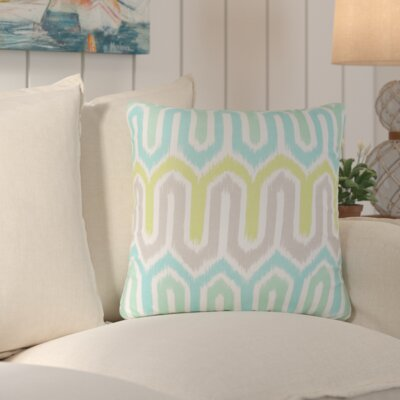 Lake Sarasota Geometric Indoor/Outdoor Throw Pillow Color: Blue