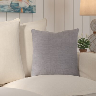 Palmetto Solid Indoor/Outdoor Pillow Size: 22 H x 22 H x 4 D, Color: Dove Gray