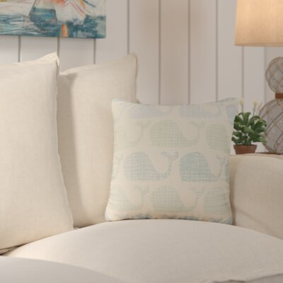Trafalgar Cotton Throw Pillow Color: Green/Blue