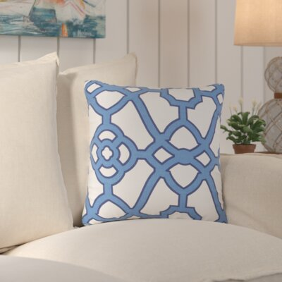 Marianna Indoor/Outdoor Throw Pillow Color: Blue