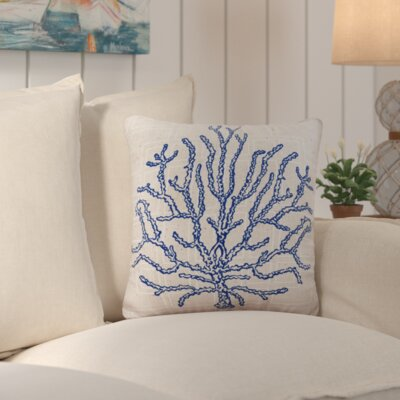 Solana Coral Indoor/Outdoor Pillow Size: 18 W x 18 D
