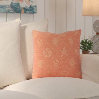 Aventura Throw Pillow Color: Coral