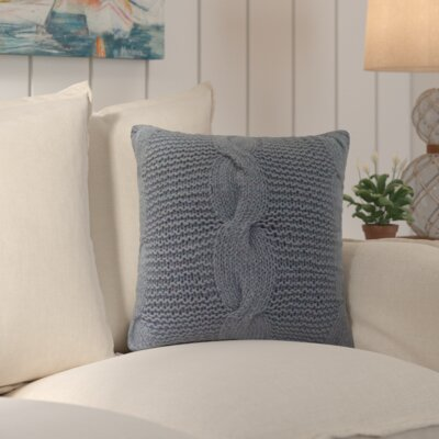 Loganville Cable Knit Throw Pillow Color: Gray