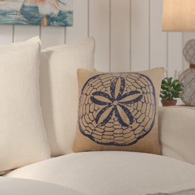 Brandon Burlap Throw Pillow Color: Navy