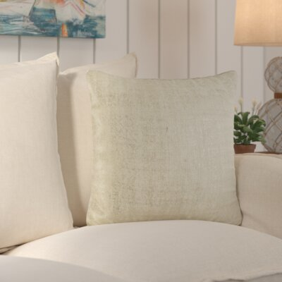 Laurel Cotton Throw Pillow Color: Ivory