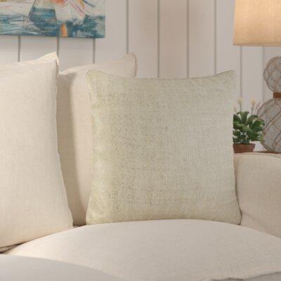 Laurel Cotton Throw Pillow Color: Ivory