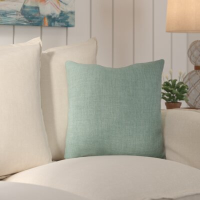 Palmetto Outdoor Pillow Size: 18 H x 18 H x 4 D, Color: Malachite Blue