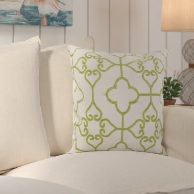 Nadia Indoor / Outdoor Euro Pillow Color: Sweet Green / Cream