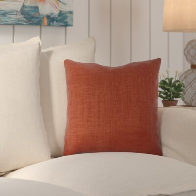 Palmetto Outdoor Pillow Size: 18 H x 18 H x 4 D, Color: Brick Red / Paprika