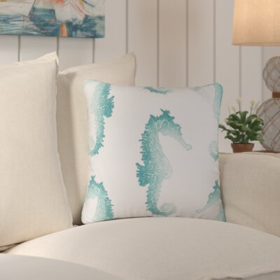 Iona Outdoor Throw Pillow Color: Blue