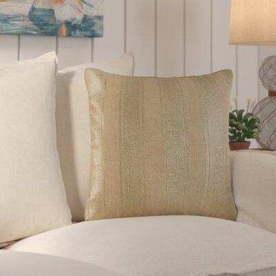 Laurel Striped Foil Cotton Throw Pillow Color: Natural SEHO4343 28234694