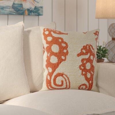 Marlin Indoor Outdoor Pillow in Gray Color: Cream / Tropical Orange