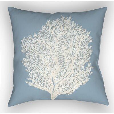 Brookline Coastal II Indoor/Outdoor Throw Pillow Size: 18 H x 18 W x 4 D, Color: Blue