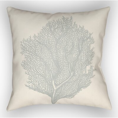 Brookline Coastal II Indoor/Outdoor Throw Pillow Size: 18 H x 18 W x 4 D, Color: Light Blue
