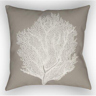 Brookline Coastal II Indoor/Outdoor Throw Pillow Size: 20 H x 20 W x 4 D, Color: Brown