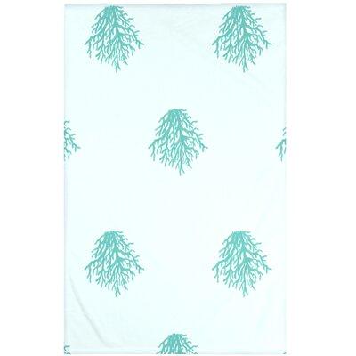 Cypress Lake Coastal Print Throw Blanket Size: 60 L x 50 W, Color: Jade (Green)
