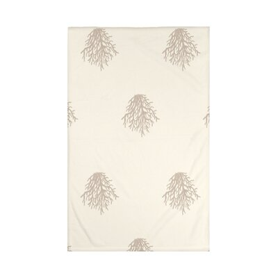 Cypress Lake Coastal Print Throw Blanket Size: 60 L x 50 W, Color: Flax (Taupe)