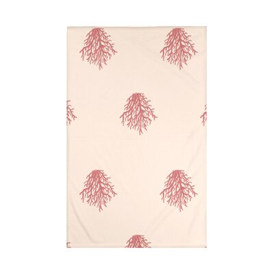 Cypress Lake Coastal Print Throw Blanket Size: 60 L x 50 W, Color: Burnt (Taupe/Coral)