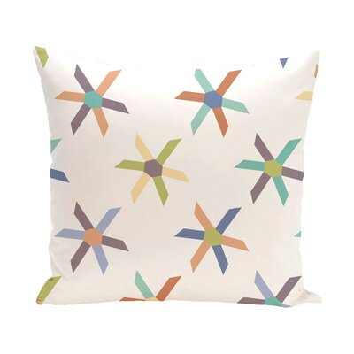 Rocio Pinwheel Pop Geometric Outdoor Throw Pillow Color: Turquoise, Size: 16 H x 16 W