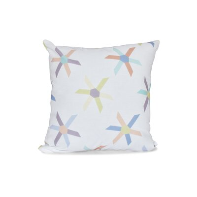 Cedarville Pinwheel Geometric Outdoor Throw Pillow Size: 18 H x 18 W, Color: Lavender