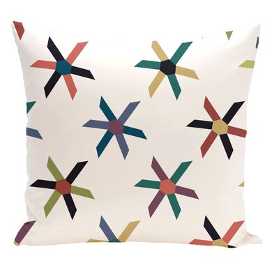 Cedarville Pinwheel Geometric Outdoor Throw Pillow Size: 20 H x 20 W, Color: Navy Blue