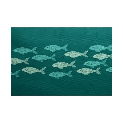 Golden Lakes Teal Indoor/Outdoor Area Rug Rug Size: 5 x 7