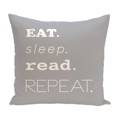 Cedarville Mantra Word Outdoor Throw Pillow Size: 20 H x 20 W, Color: Gray
