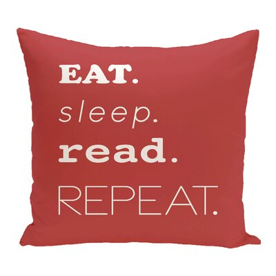 Cedarville Mantra Word Outdoor Throw Pillow Size: 18 H x 18 W, Color: Coral