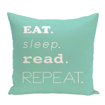 Cedarville Mantra Word Outdoor Throw Pillow Size: 20 H x 20 W, Color: Aqua