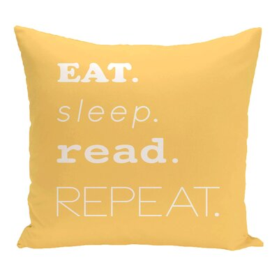 Rocio My Mantra Word Throw Pillow Size: 16 H x 16 W, Color: Yellow