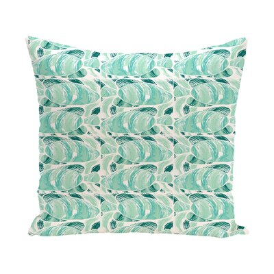 Cedarville Fishwich Coastal Outdoor Throw Pillow Size: 20 H x 20 W, Color: Teal