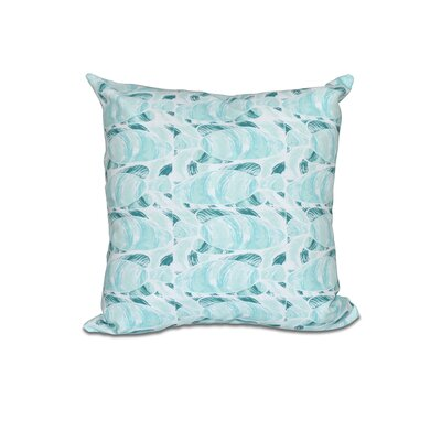 Cedarville Fishwich Coastal Outdoor Throw Pillow Size: 18 H x 18 W, Color: Teal