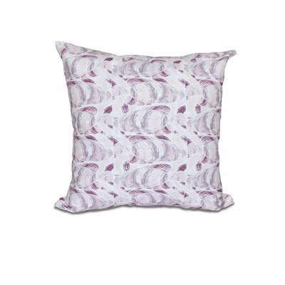 Cedarville Fishwich Coastal Outdoor Throw Pillow Size: 18 H x 18 W, Color: Purple