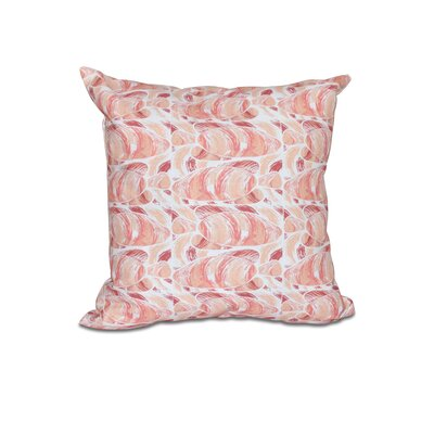 Cedarville Fishwich Coastal Outdoor Throw Pillow Size: 18 H x 18 W, Color: Coral