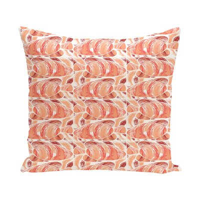 Cedarville Fishwich Coastal Outdoor Throw Pillow Size: 16 H x 16 W, Color: Coral