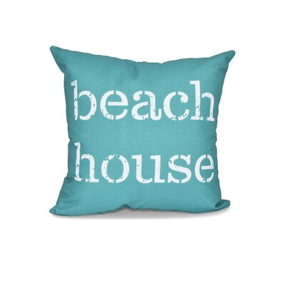 Cedarville Beach House Outdoor Throw Pillow Size: 18 H x 18 W, Color: Teal