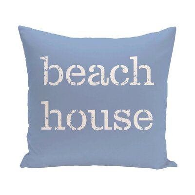 Cedarville Beach House Outdoor Throw Pillow Size: 20 H x 20 W, Color: Blue