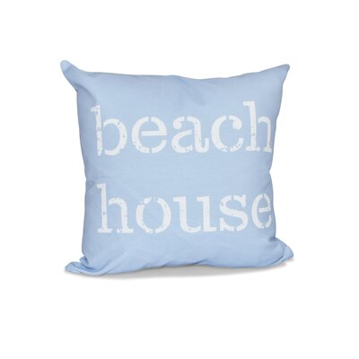 Cedarville Beach House Outdoor Throw Pillow Size: 18 H x 18 W, Color: Blue