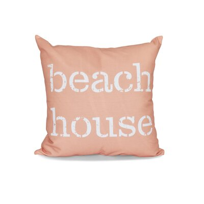 Cedarville Beach House Outdoor Throw Pillow Size: 18 H x 18 W, Color: Coral