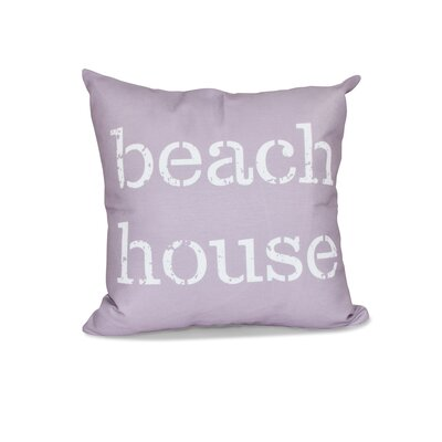 Cedarville Beach House Outdoor Throw Pillow Size: 18 H x 18 W, Color: Lavender