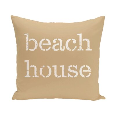 Cedarville Beach House Outdoor Throw Pillow Size: 20 H x 20 W, Color: Taupe/Beige