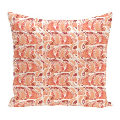 Rocio Fishwich Coastal Throw Pillow Size: 18 H x 18 W, Color: Coral