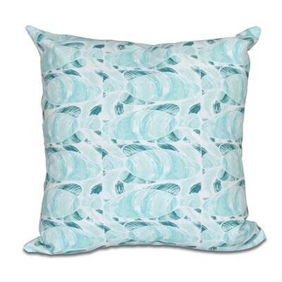 Rocio Fishwich Coastal Throw Pillow Color: Teal, Size: 26 H x 26 W