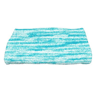 Rocio Ocean View Striped Print Bath Towel Color: Teal