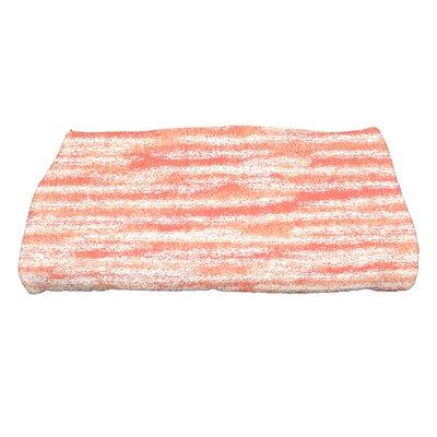 Rocio Ocean View Striped Print Bath Towel Color: Coral
