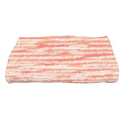 Striped Print Bath Towel Color: Coral