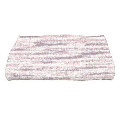 Striped Print Bath Towel Color: Purple
