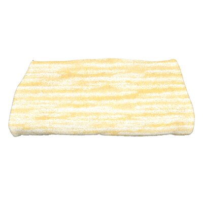Striped Print Bath Towel Color: Yellow